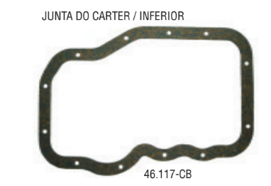 Junta do Carter 1.6 8/16v Inferior - Junta do Carter - Fox -