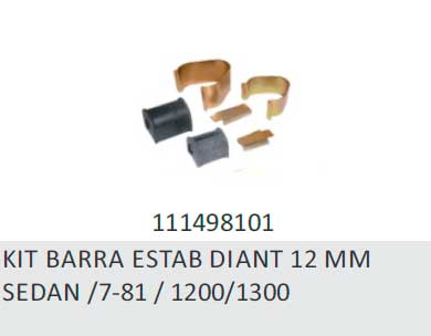 KIT BARRA ESTABILIZADORA DIANTEIRA 12 MM - BARRA ESTABILIZAD
