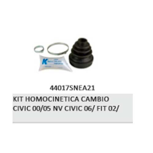 KIT HOMOCINETICA CAMBIO CIVIC 00/05 NV CIVIC 06/ FIT 02/ - kit Coifa Homocinetica - CIVIC - Na frente do Veículo - Cada (unidade) - <B>HONDA CIVIC de 2000 até 2005</B>  - Cod. SKU: 8385a