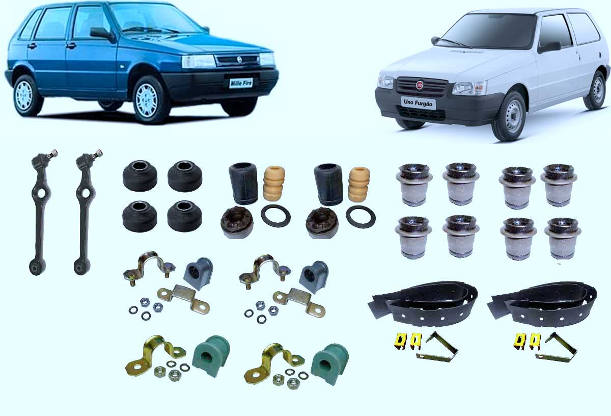 Kit De Suspensao Fiat Uno Dainteira E Traseira 1°linha - BUCHAS - UNIDADE   - Cod. SKU: MLB743194263