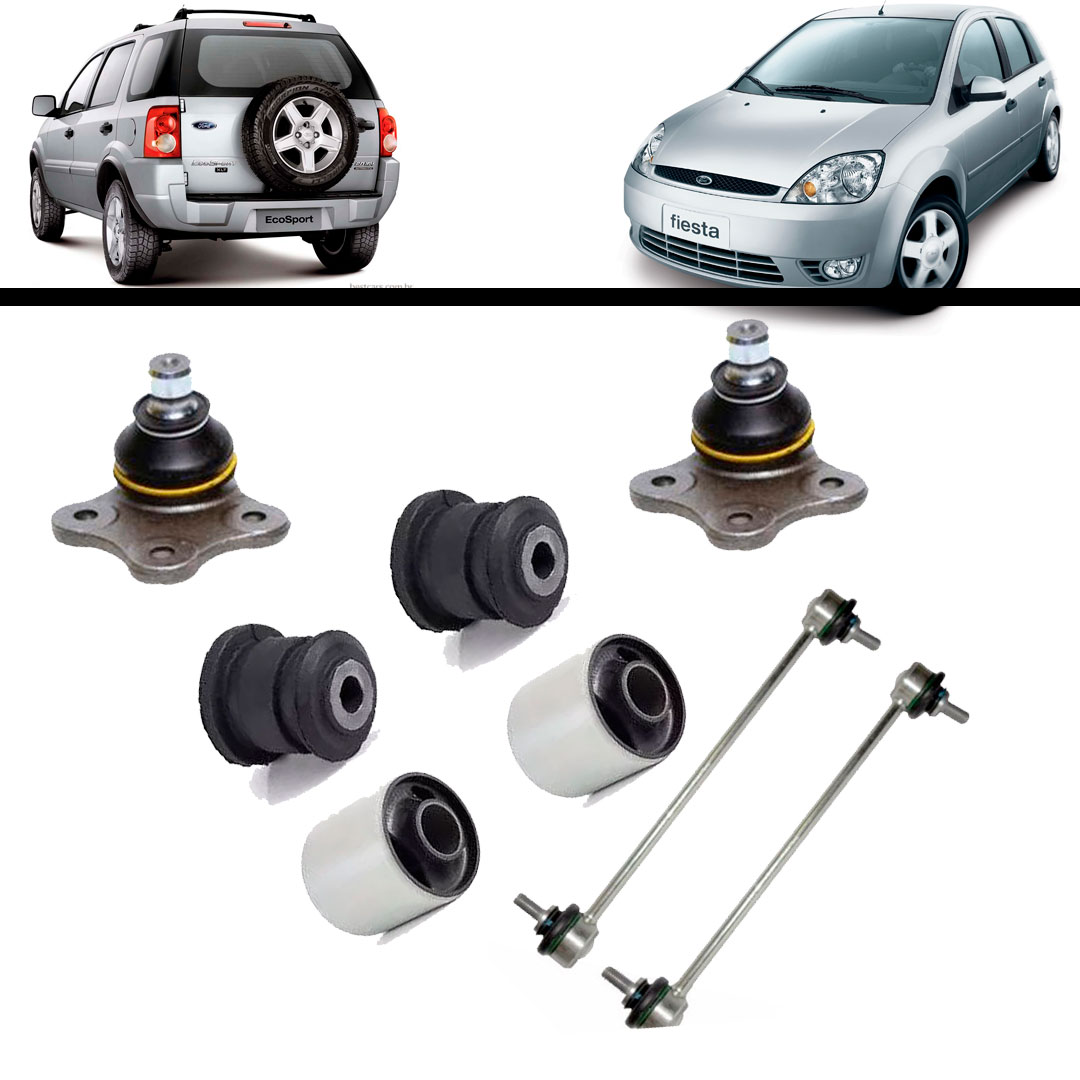 Kit Bucha Balança Bandeja Dianteira Ford Ka Fiesta Ecosport - BUCHAS - COP BOR - UNIDADE   - Cod. SKU: MLB783656698DUP4